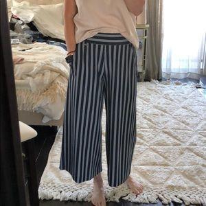 Crop wide leg pant
